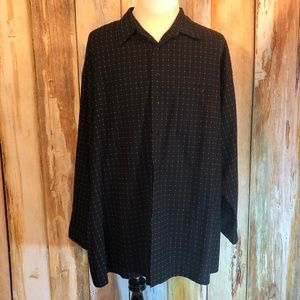 Pierre Cardin Black & White LS Shirt 4XLT EUC!